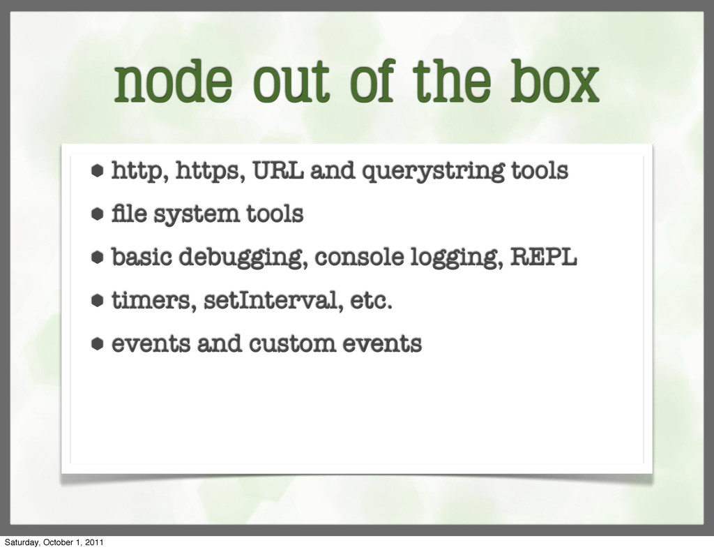 node out of the box ⬢ http, https, URL and quer...