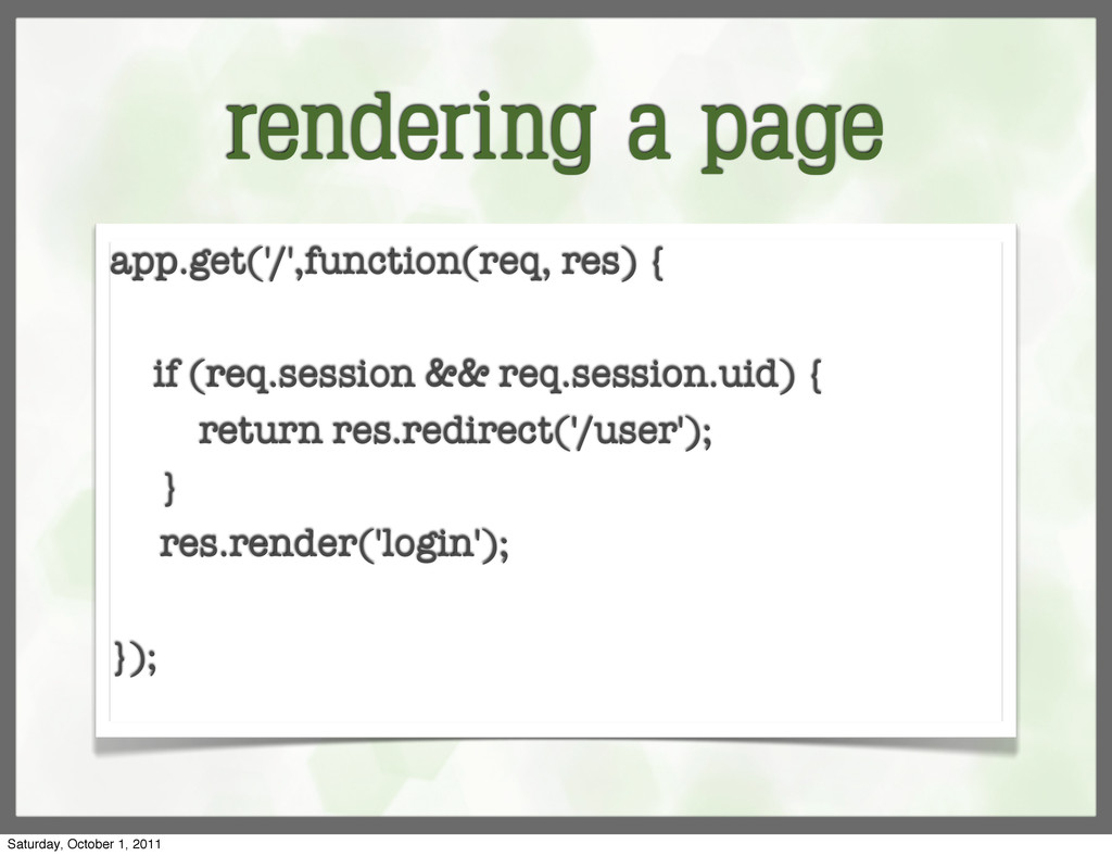 rendering a page app.get('/',function(req, res)...