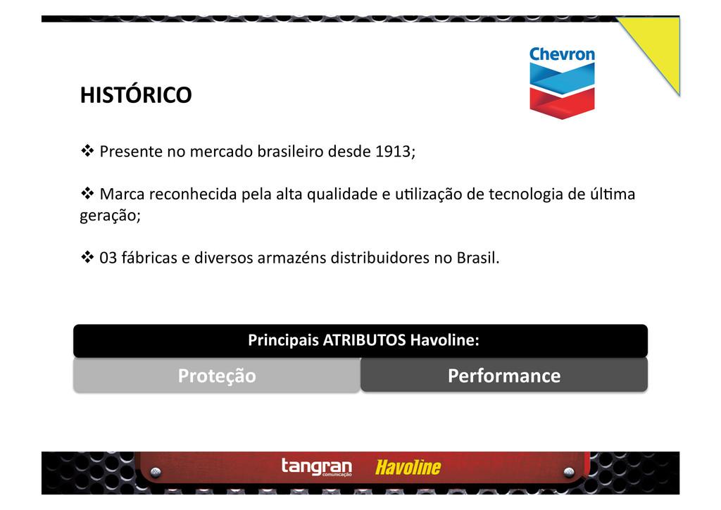 HISTÓRICO  Presente no mercado brasileiro des...