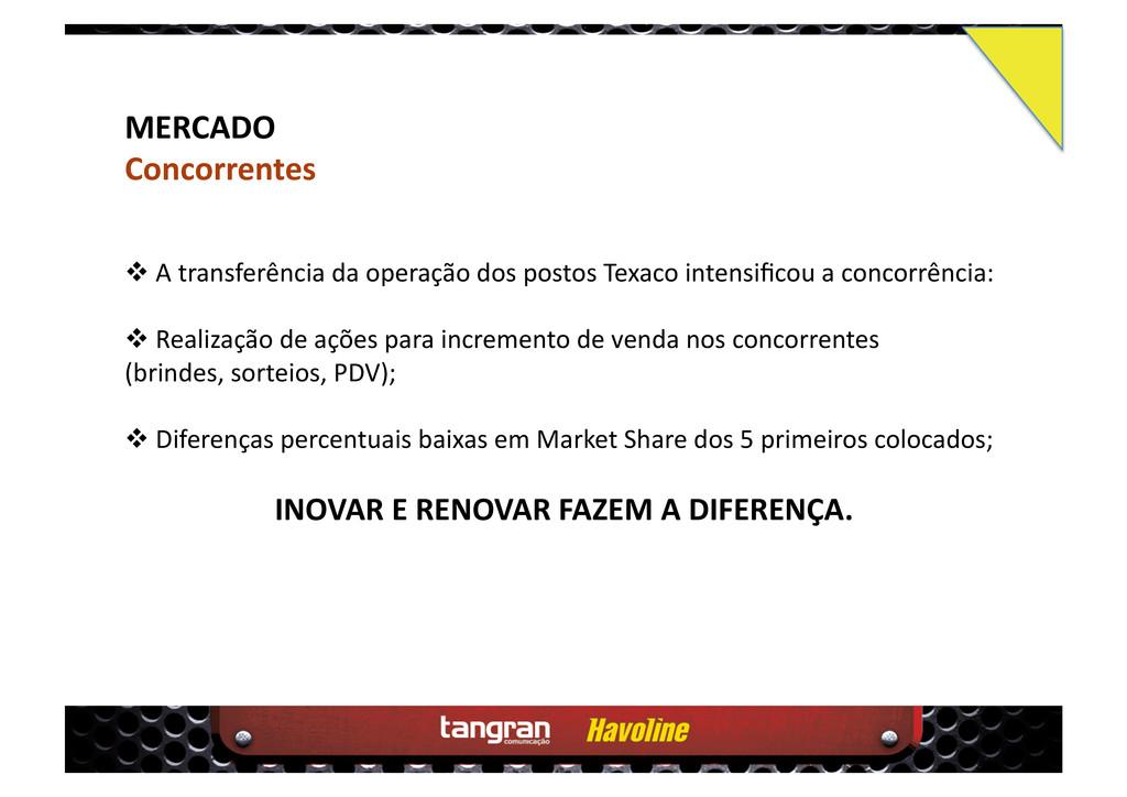 MERCADO Concorrentes  A transferência da oper...