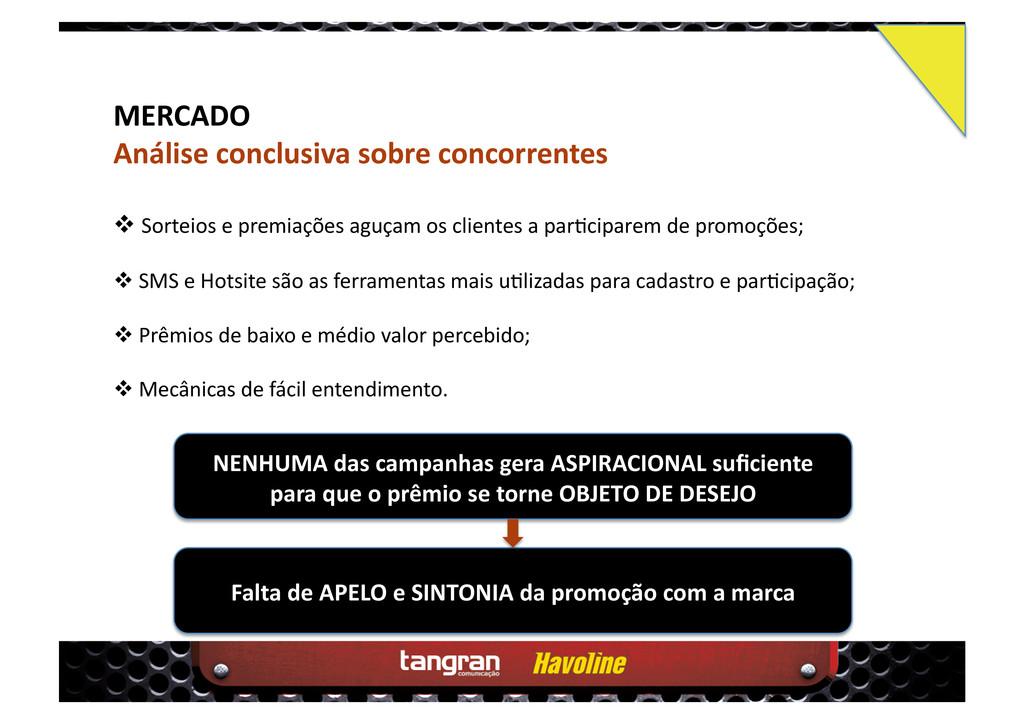 MERCADO Análise conclusiva sobre concorrentes ...