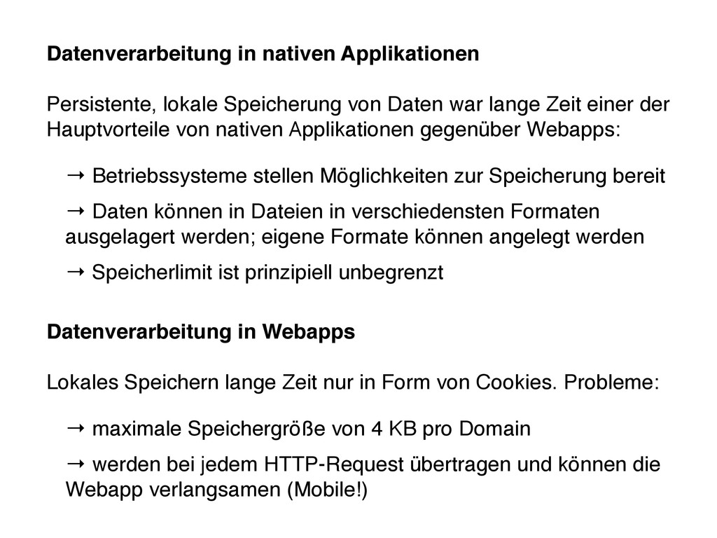 Datenverarbeitung in nativen Applikationen Pers...
