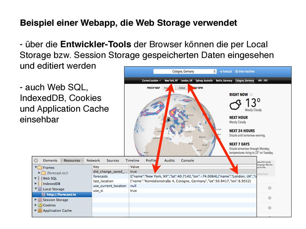 Beispiel einer Webapp, die Web Storage verwende...