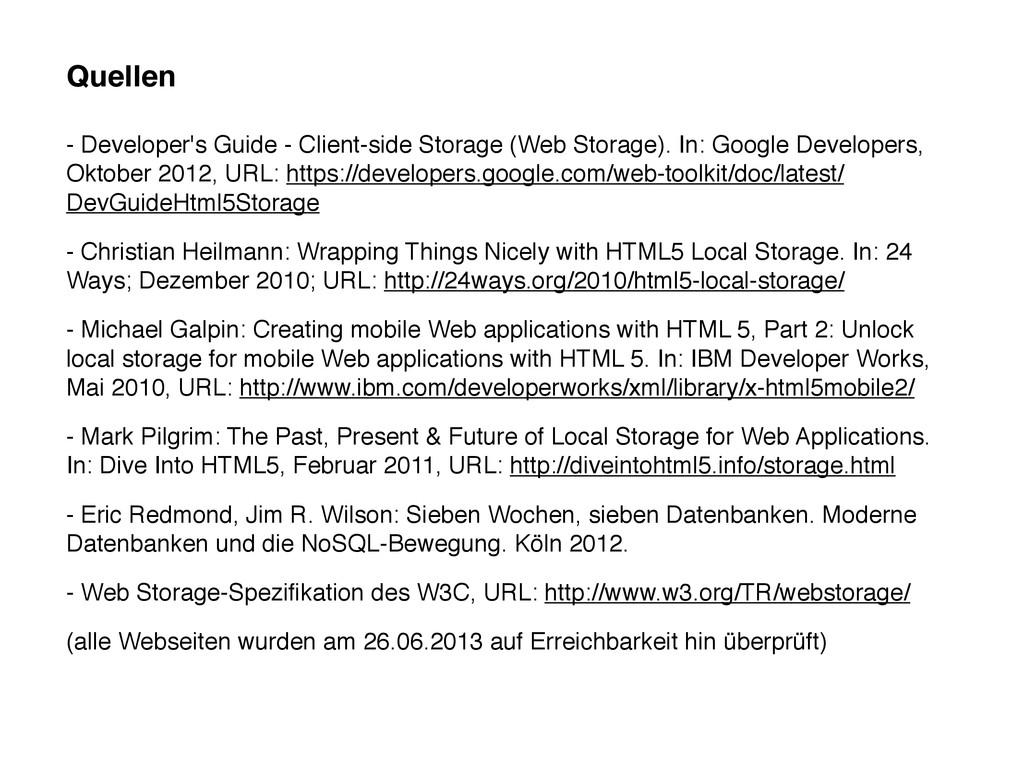 Quellen - Developer's Guide - Client-side Stora...