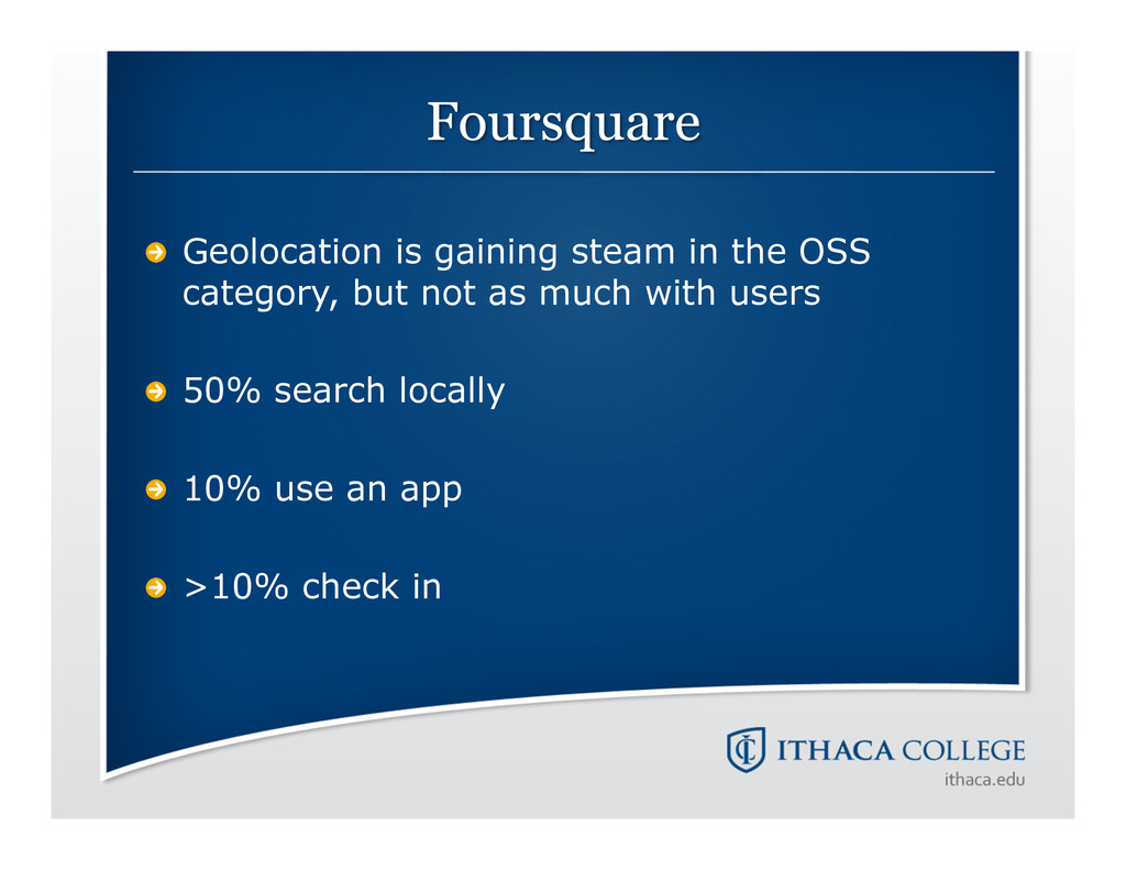 !  Geolocation is gaining steam in the OSS cat...