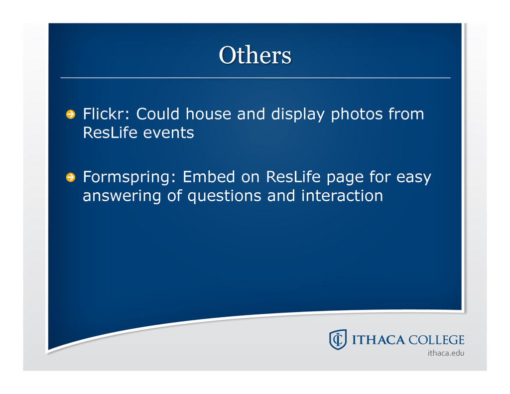 !  Flickr: Could house and display photos from...