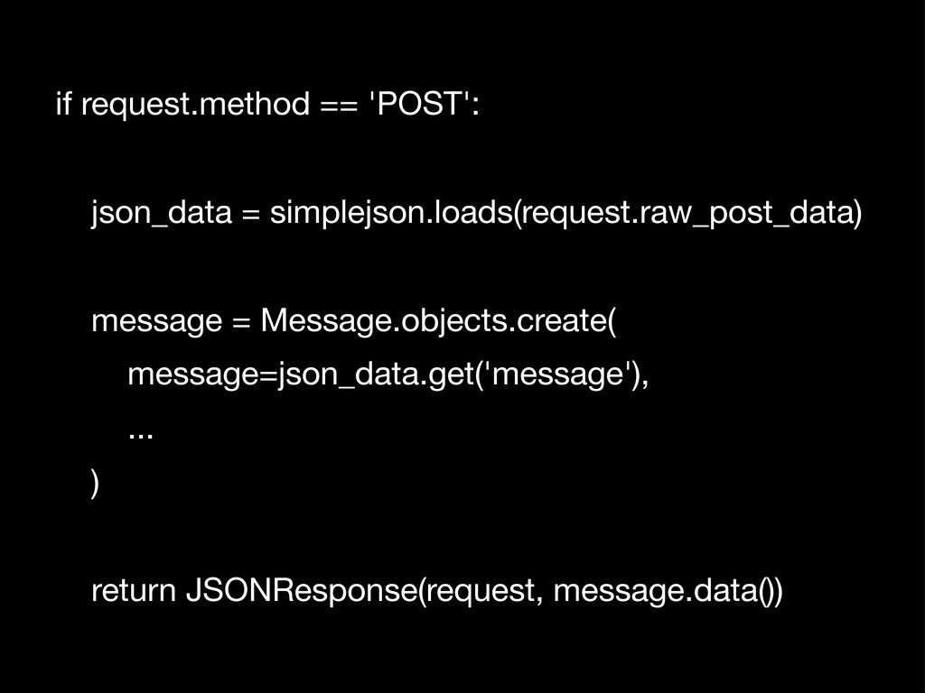 if request.method == 'POST': json_data = simple...