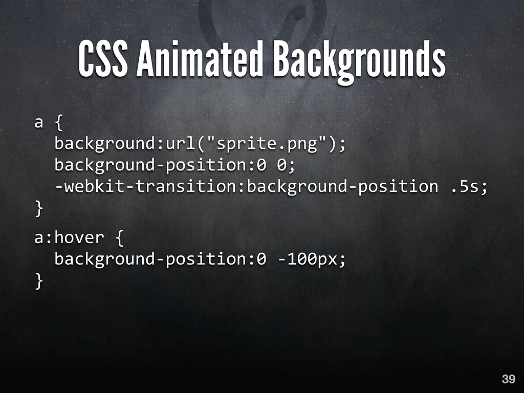 CSS Animated Backgrounds a {   backgro...