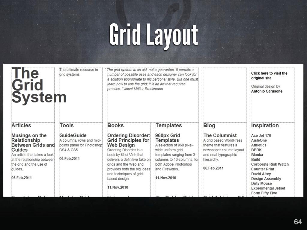 Grid Layout 64