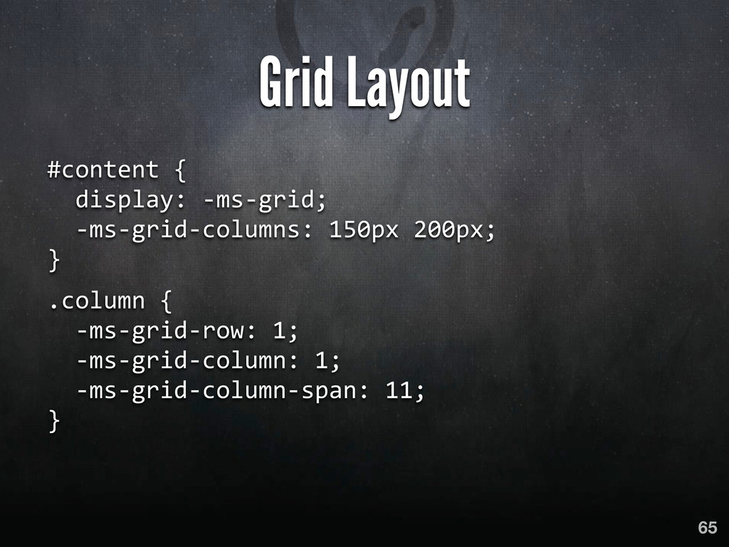 Grid Layout #content {    display:...