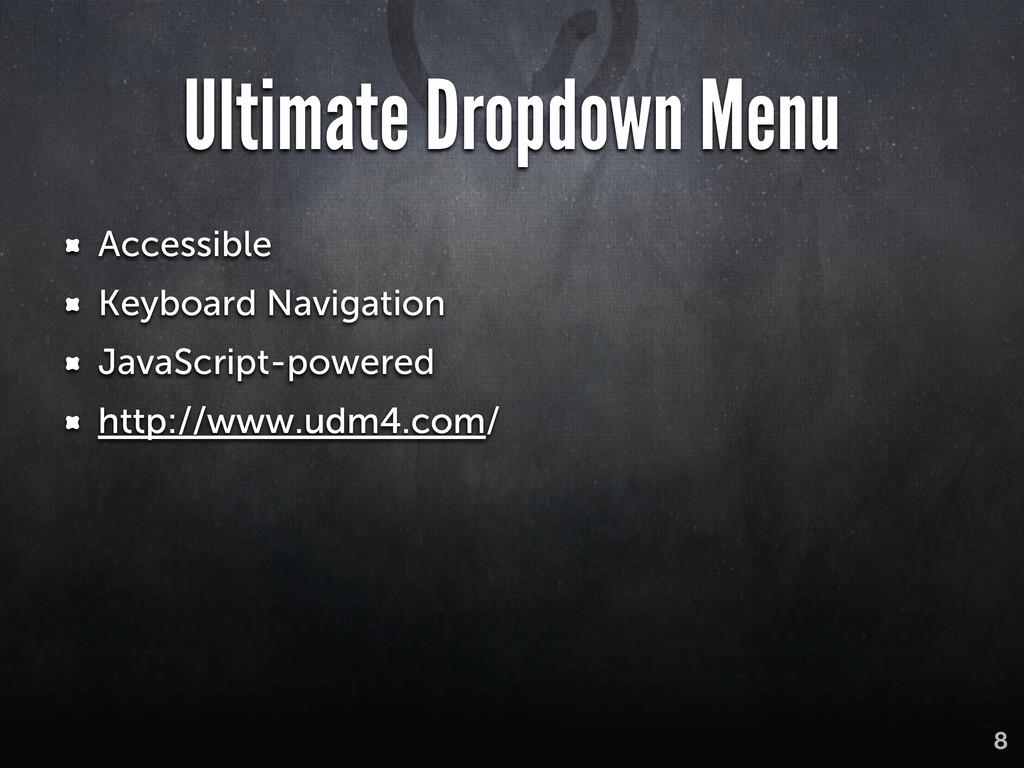 Ultimate Dropdown Menu Accessible Keyboard Navi...
