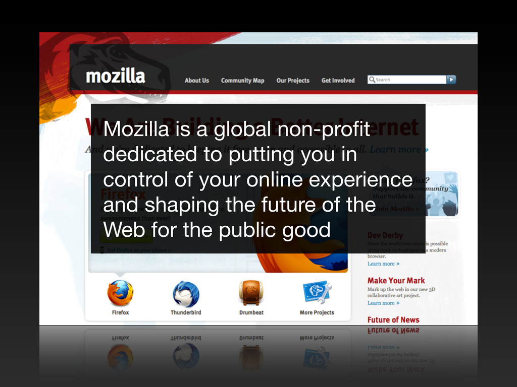 Mozilla is a global non-profit dedicated to putt...