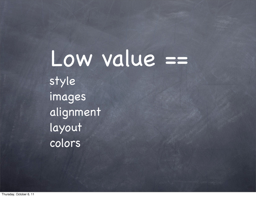 Low value == style images alignment layout colo...