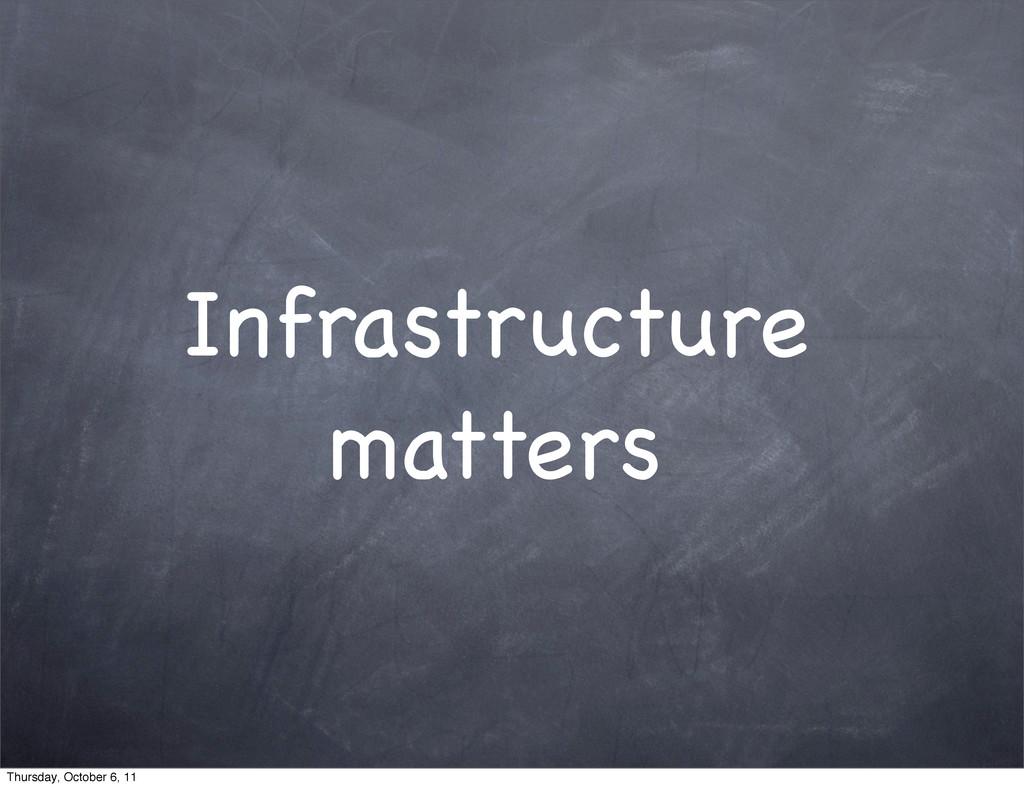 Infrastructure matters Thursday, October 6, 11