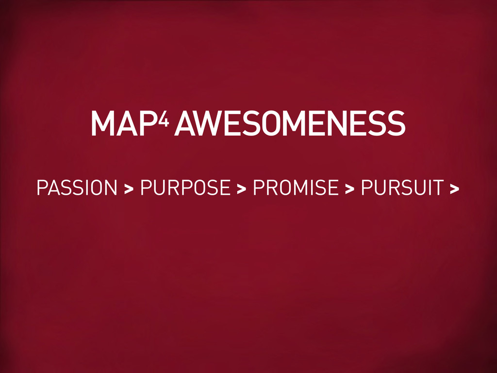 PASSION > PURPOSE > PROMISE > PURSUIT > MAP4 AW...