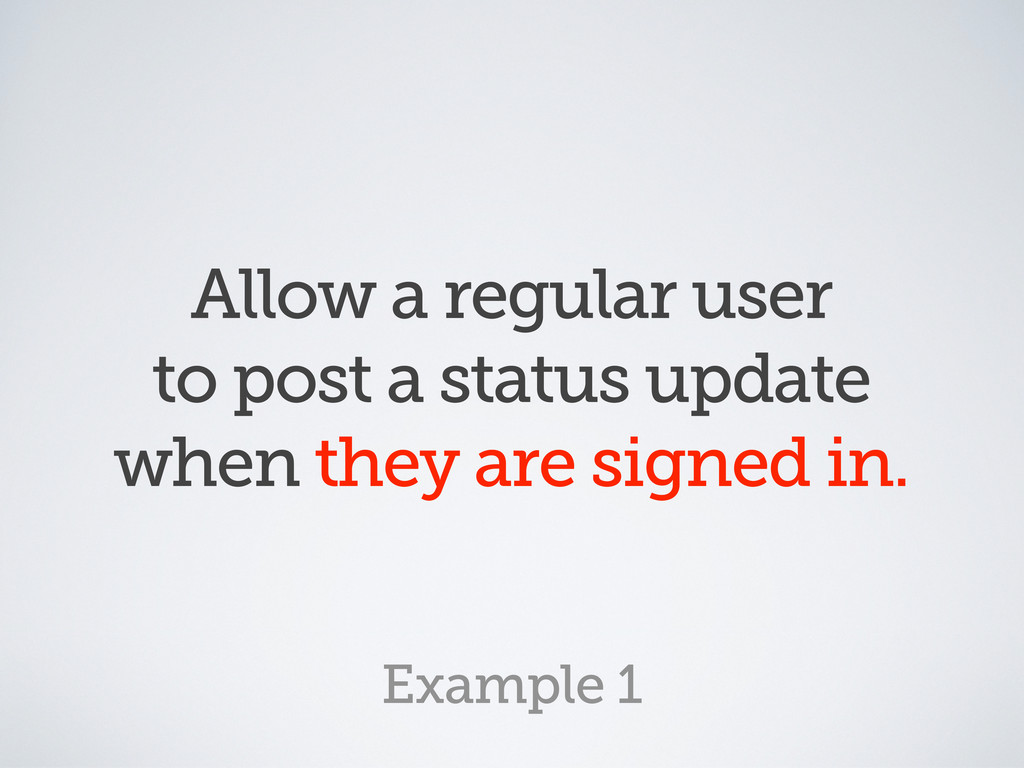 Allow a regular user to post a status update wh...