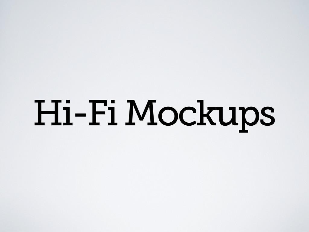 Hi-Fi Mockups