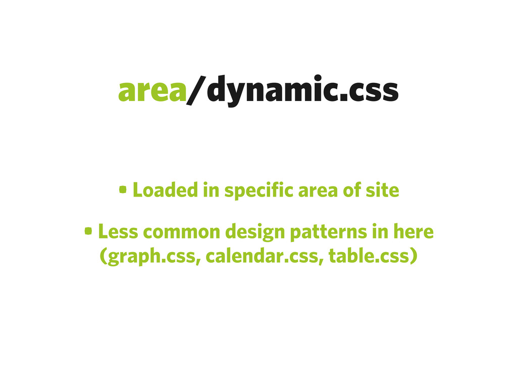 area/dynamic.css • Loaded in specific area of s...