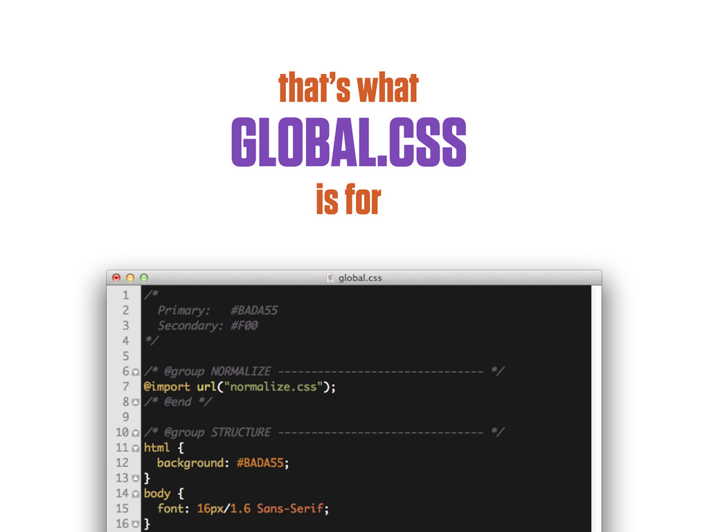 that's what GLOBAL.CSS is for