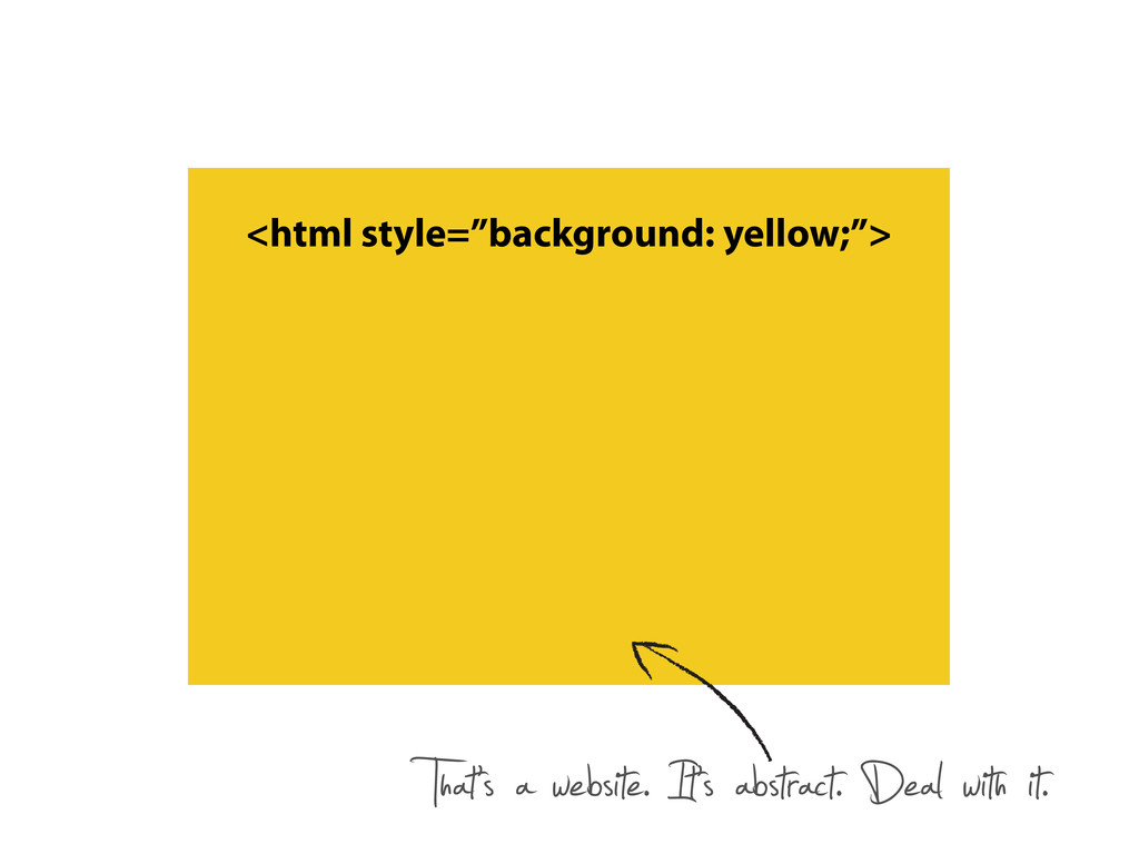"""<html style=""""background: yellow;""""> That's a web..."""