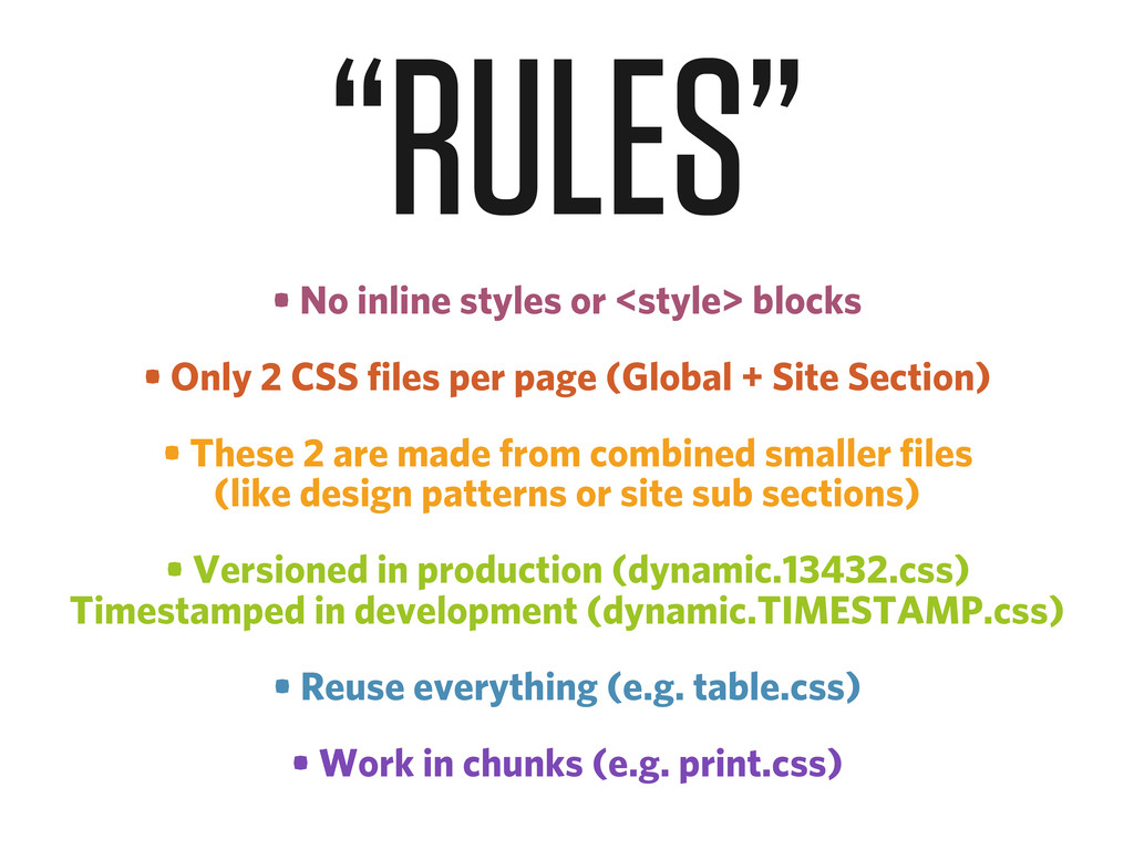 • No inline styles or <style> blocks • Only 2 C...