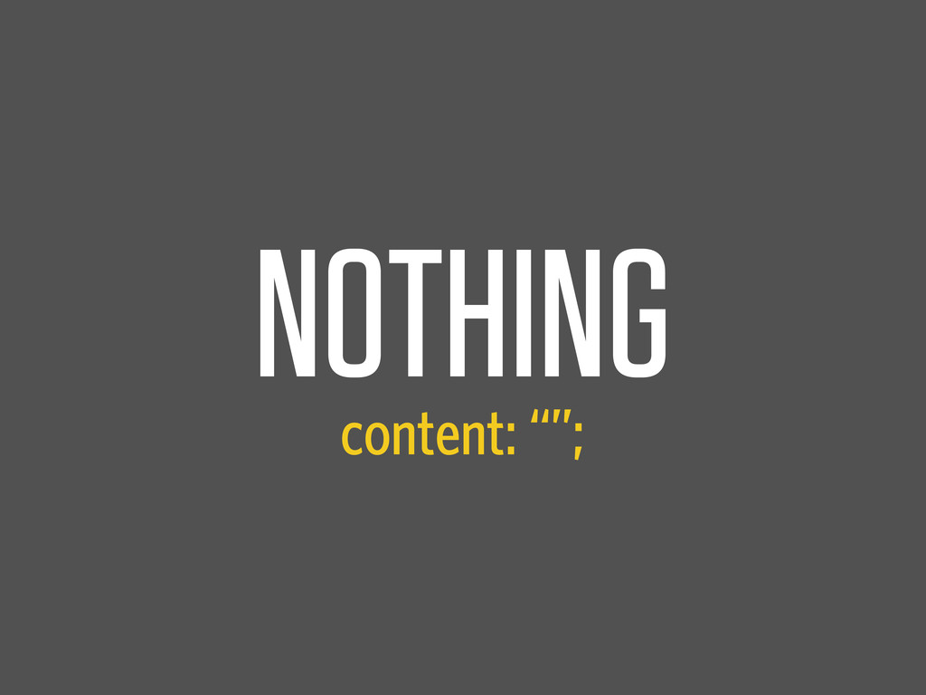 """NOTHING content: """""""";"""