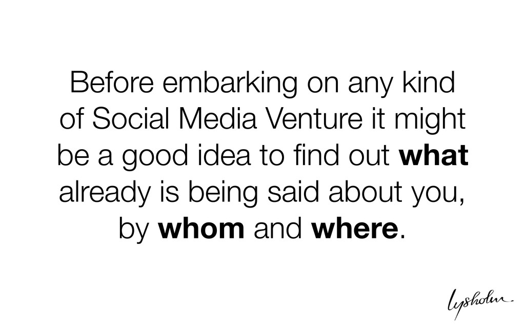 Before embarking on any kind of Social Media Ve...