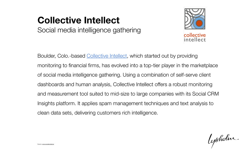Collective Intellect Social media intelligence ...