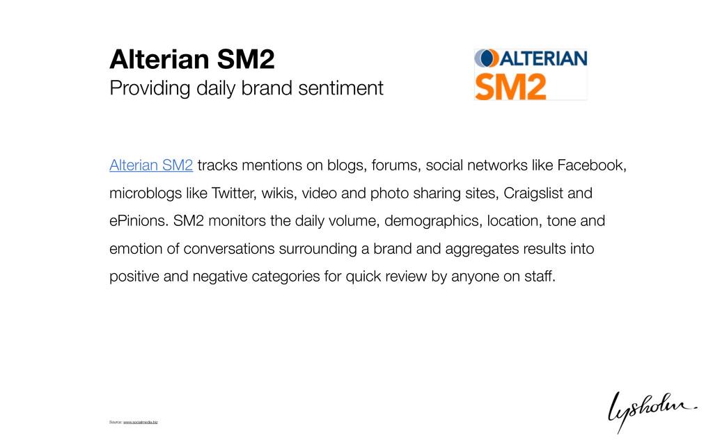 Alterian SM2 Providing daily brand sentiment Al...