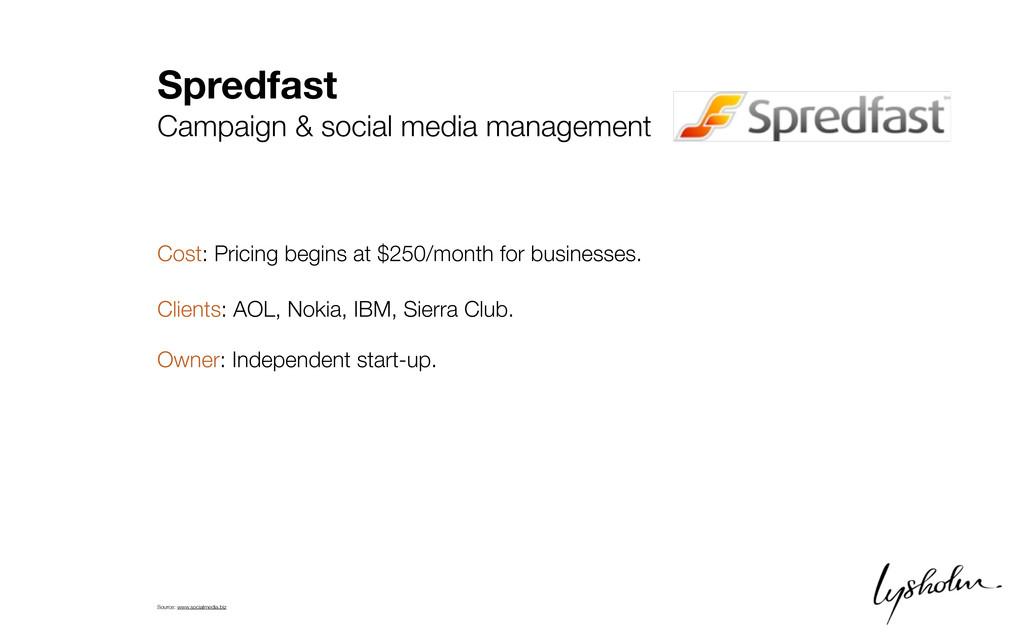 Spredfast Campaign & social media management Co...