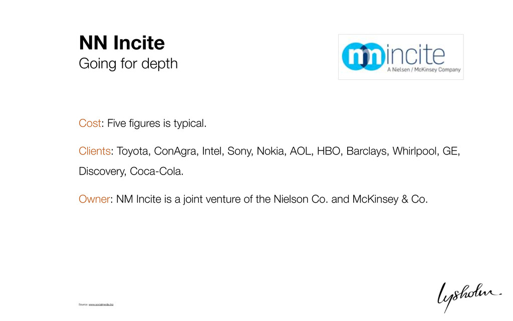 NN Incite Going for depth Cost: Five figures is ...