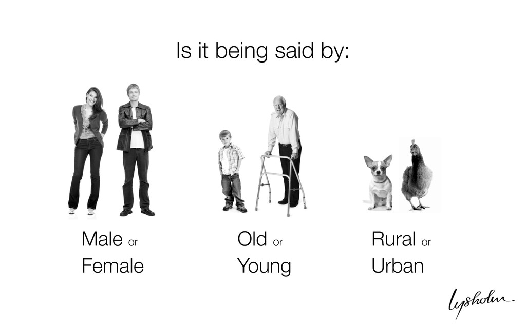 Male or Female Old or Young Rural or Urban Is i...