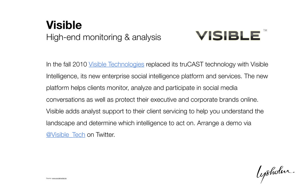 Visible High-end monitoring & analysis In the f...