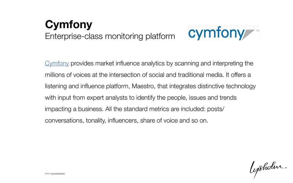 Cymfony Enterprise-class monitoring platform Cy...