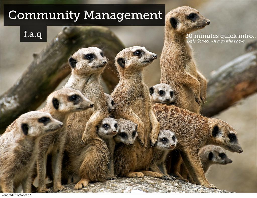 Community Management f.a.q 30 minutes quick int...