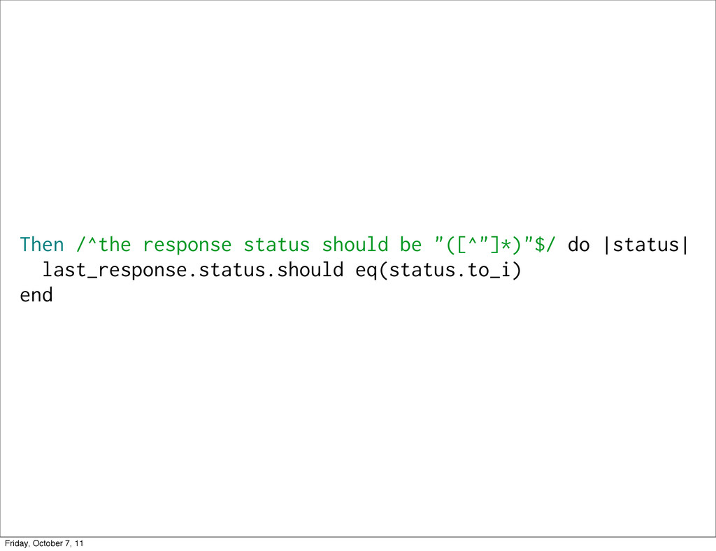 """Then /^the response status should be """"([^""""]*)""""$..."""