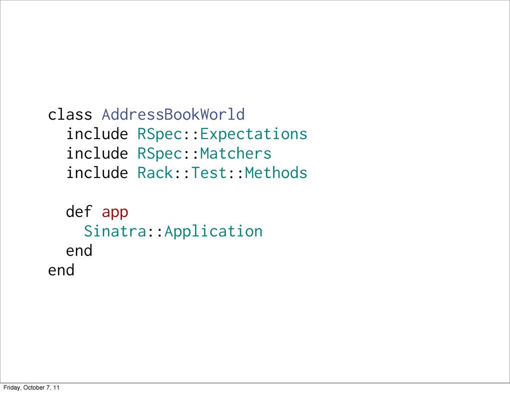 class AddressBookWorld include RSpec::Expectati...