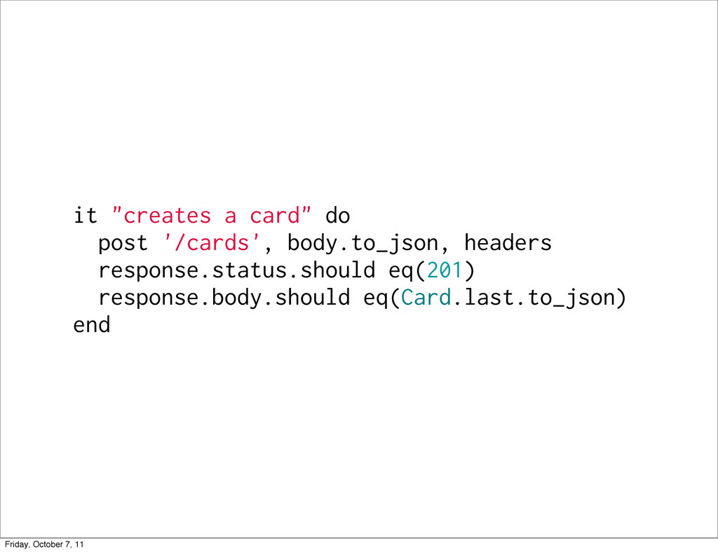 """it """"creates a card"""" do post '/cards', body.to_j..."""
