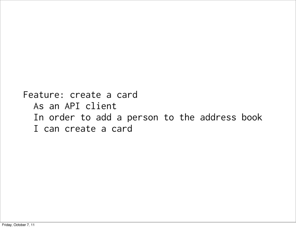 Feature: create a card As an API client In orde...