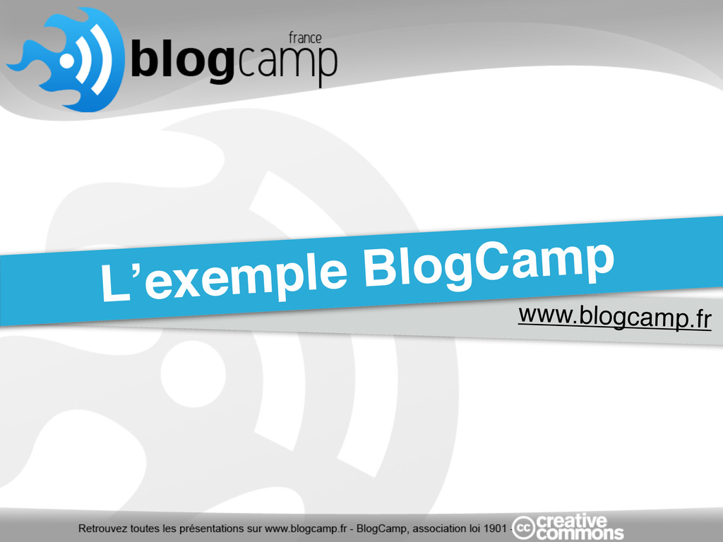 www.blogcamp.fr L'exemple BlogCamp