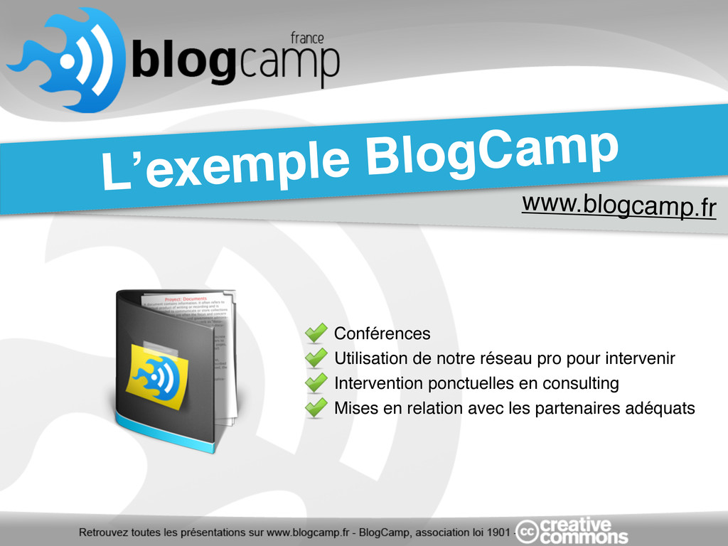 www.blogcamp.fr L'exemple BlogCamp Conférences ...