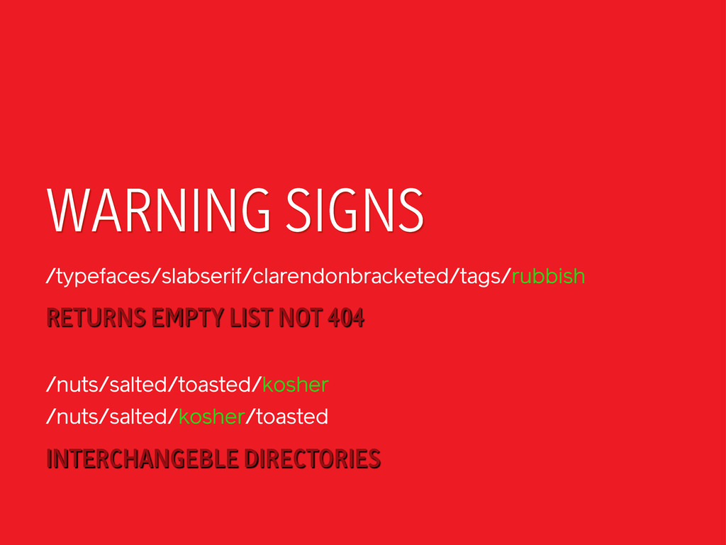 WARNING SIGNS /typefaces/slabserif/clarendonbra...