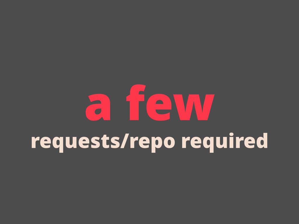 a few requests/repo required