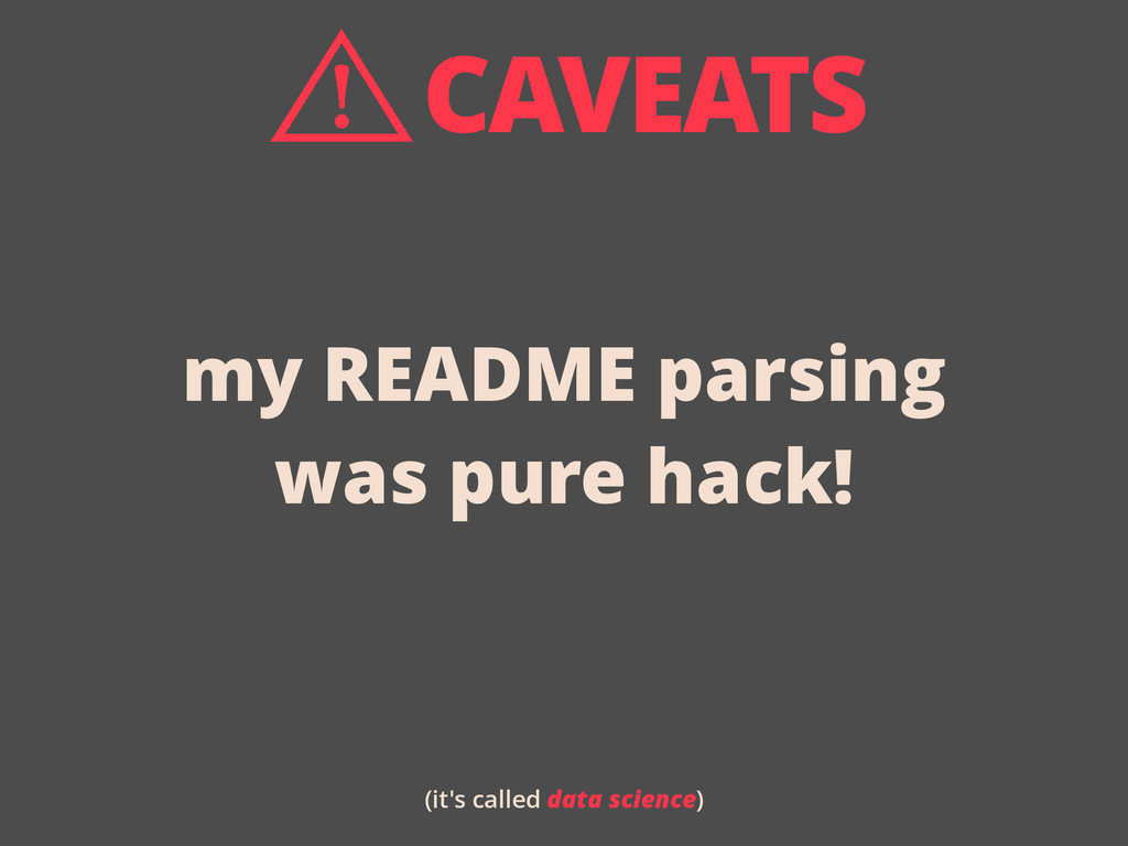 my README parsing was pure hack! (it's called d...