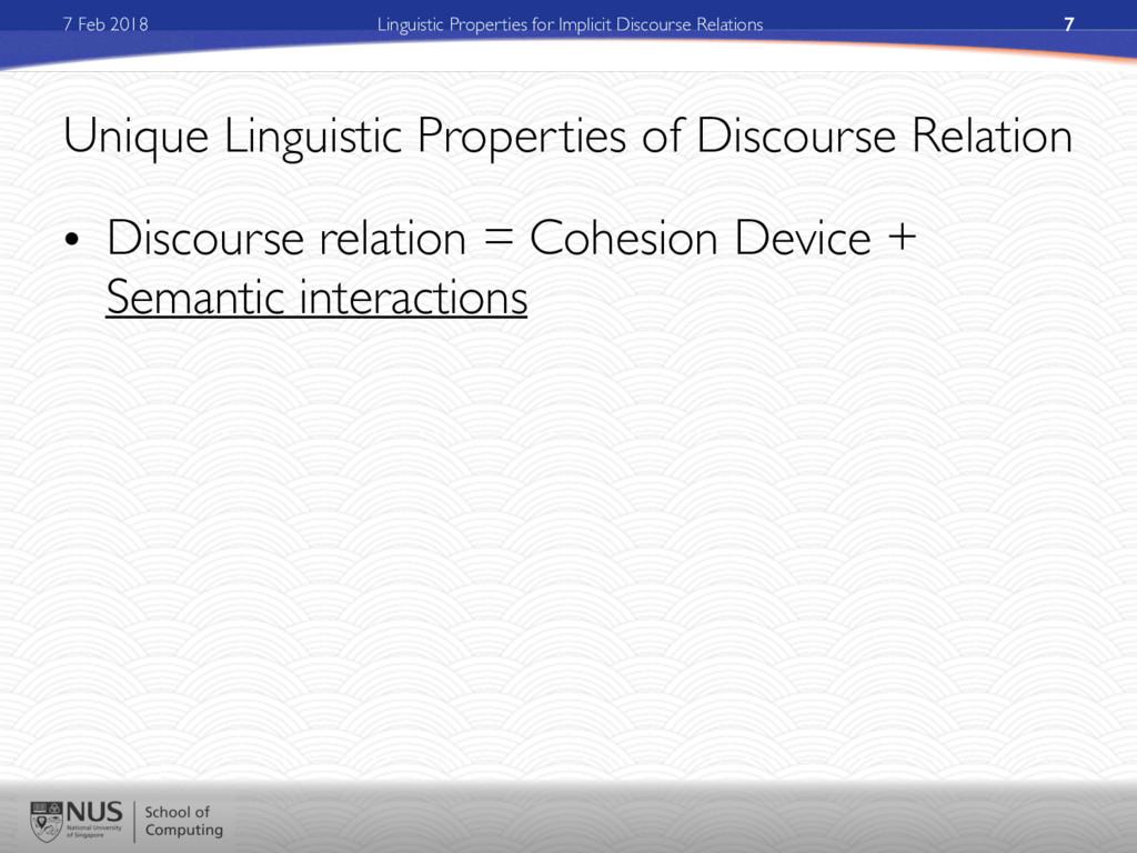 7 Feb 2018 Linguistic Properties for Implicit D...