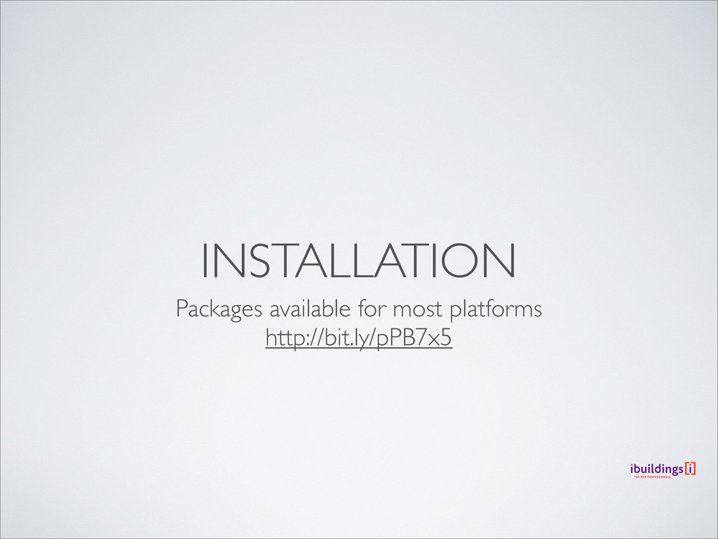INSTALLATION Packages available for most platfo...