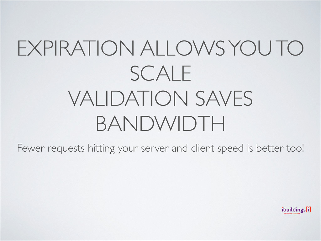EXPIRATION ALLOWS YOU TO SCALE VALIDATION SAVES...