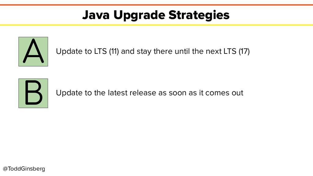 @ToddGinsberg Java Upgrade Strategies A Update ...