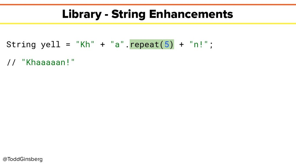 @ToddGinsberg Library - String Enhancements Str...