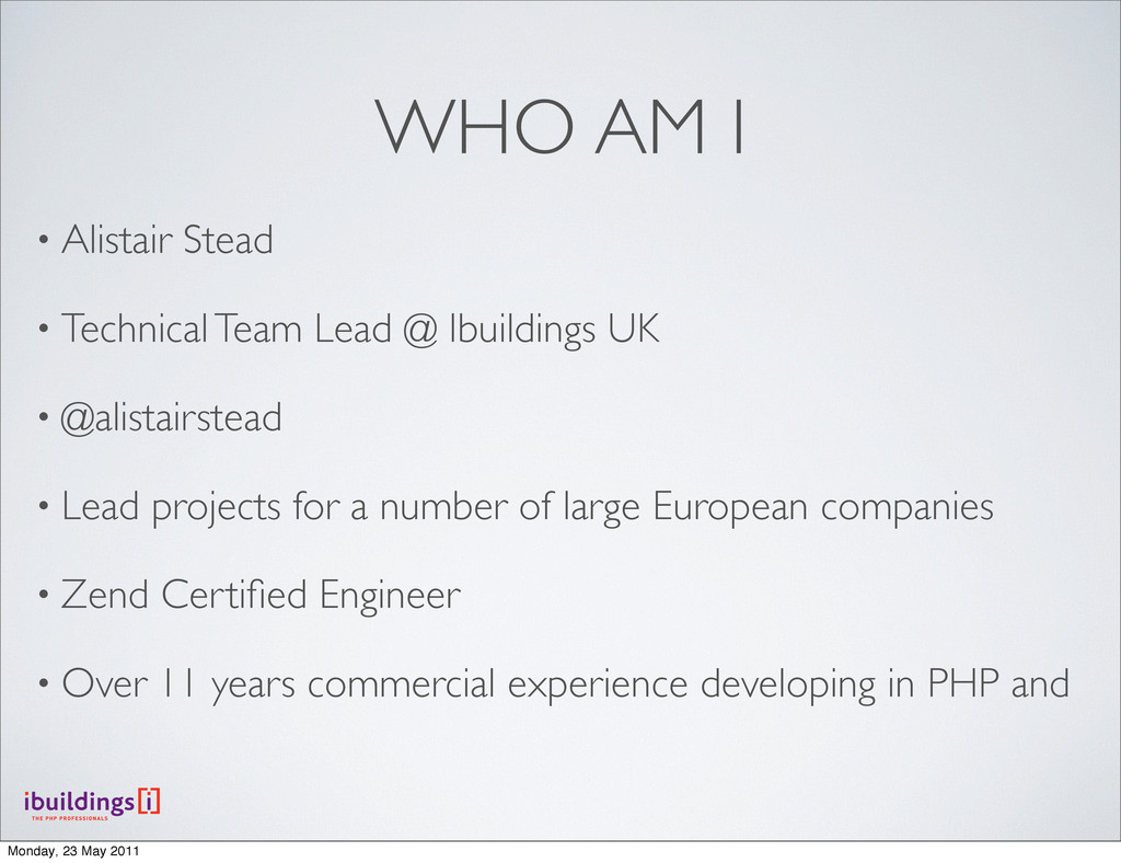 • Alistair Stead • Technical Team Lead @ Ibuild...
